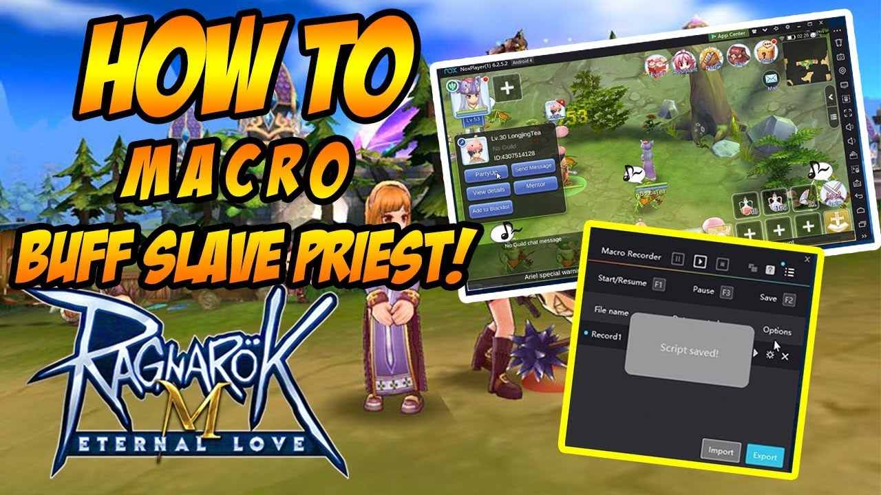 Ragnarok M: Eternal Love - How to set up your slave priest using the Nox  Macro!