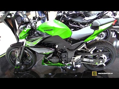 2015 Kawasaki Z300 - Walkaround - Debut at 2014 EICMA Milan Motorcycle Exhibition