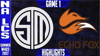 TSM vs FOX Highlights Game 1 | NA LCS Week 4 Summer 2017 | Team Solomid vs Echo fox G1 thumbnail