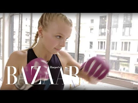 How a Model Gets Ready for New York Fashion Week | Harper