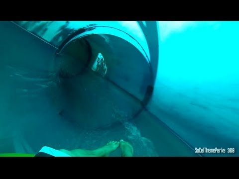 [HD] Tiki Falls Water Slide - Six Flags Hurricane Harbor Water Slide - Abyss Water Ride