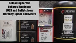 Relaoding for the Tokarev Handguns - 700X Powder and Bullets from Hornady, Speer, and Sierra