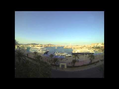 Ibiza harbour time lapse