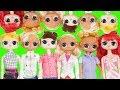 LOL Families ! Big Custom Barbie Doll Toy Show Under Wraps Teeth