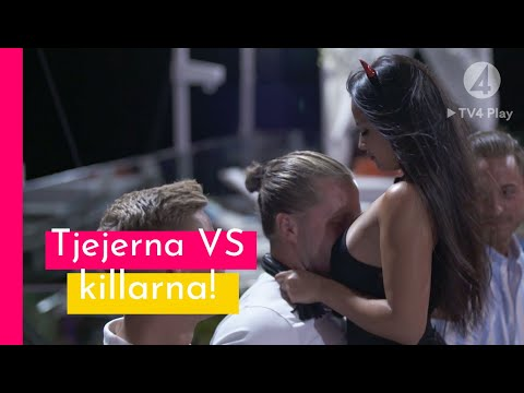 Tjejerna tävlar mot killarna i sexig dans! - Love Island Sverige 2019