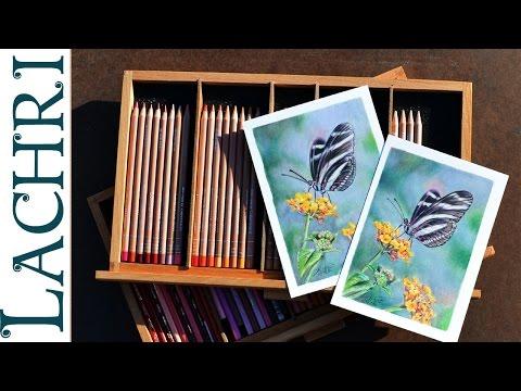 Prismacolor Vs Caran d'Ache Luminance colored pencils w/ Lachri