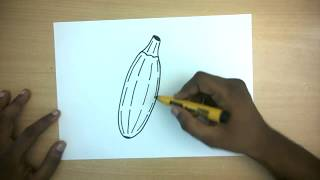 How to Draw a marrow | Easy Step by step drawing for kids