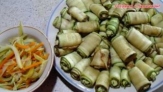 Легкие закуски из кабачков!    A light snack of zucchini!