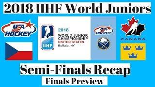 2018 World Juniors Semi Final Recap & Gold / Bronze Medal Preview