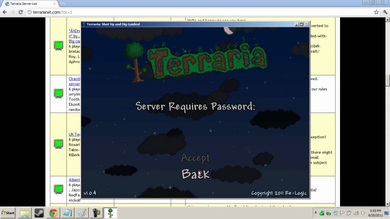 A List Of Terraria Servers Thousands Youtube