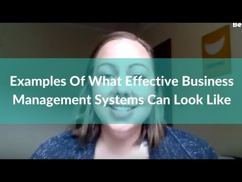 Examples Of What Effective Business Management Systems Can Look Like