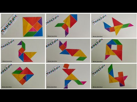 Learn How To Make Tangram Shapes / What Is A Tangram