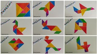 Learn how to make Tangram shapes / What is a Tangram screenshot 5
