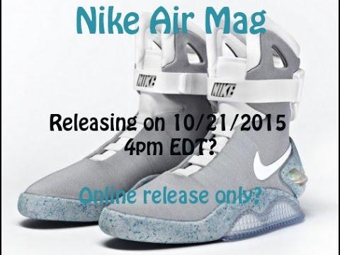 Nike Air Mag October 21 2015 Release?