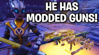 RAGING SCAMMER loses his MODDED GUNS! 😂 (Scammer Get Scammed) Fortnite Save The World