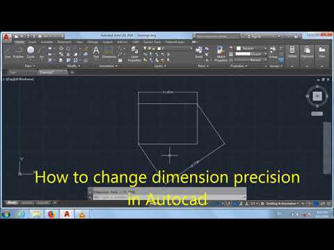 how to change dimension precision in Autocad - YouTube