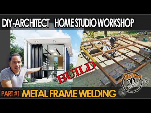 DIY- How to Frame using Metal tubes- Studio Workshop Build, Part-1