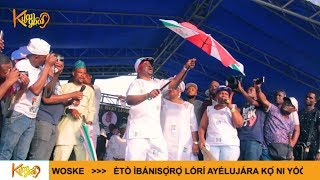 Recovering MC Oluomo slices PDP'S umbrella during a campaign for APC in Oshodi