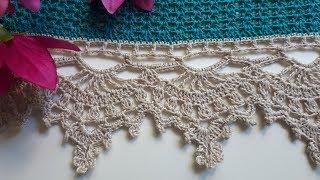 МК Красивая ажурная кружевная кайма крючком для сарафана, платья, юбки, скатерти.