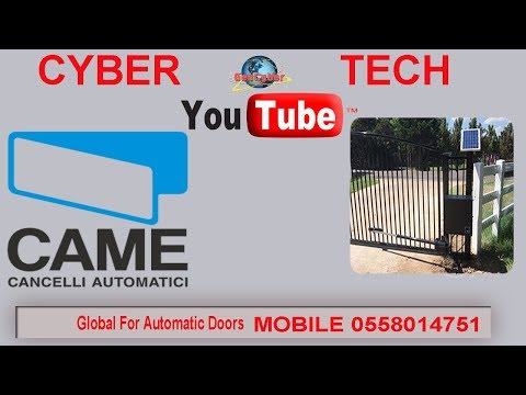 How to Install Electric Solar Automatic Gate Opener Motor CYBER TECH