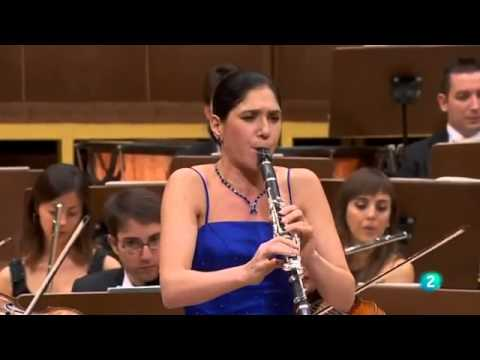 Sharon Kam with Madrid Radio RTVE -  Weber concerto No. 2 first movement- Allegro