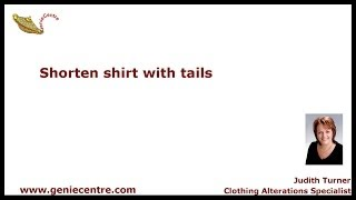 How to shorten shirt with tails