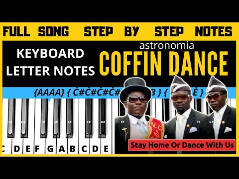 Coffin Dance Meme Keyboard Notes Piano Notes Letter Notes