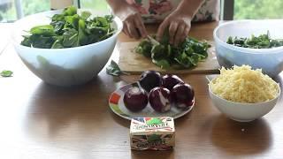 Рецепт начинки из шпината и сыра.