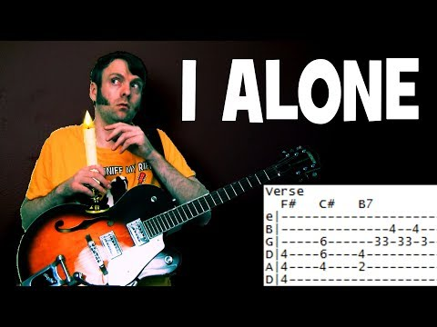 how to play I Alone by Live guitar lesson chords & tab
