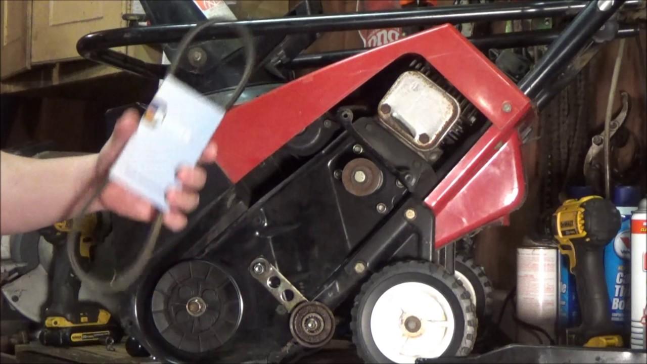 toro 3 hp ccr powerlite snowblower belt and idler repair 2006 honda civic drive belt diagram
