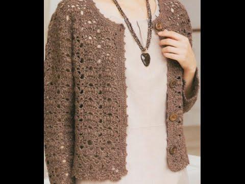 GRÁFICOS para tejer suéter abierto a crochet - YouTube