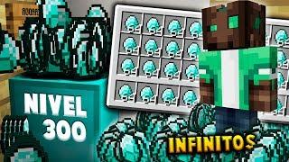 ¡GENERADOR DE DIAMANTE NIVEL 300! 😱💎 TENEMOS DIAMANTES INFINTOS - EGGWARS Minecraft