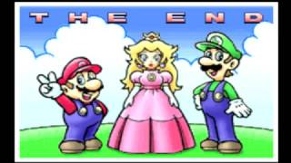 Super Mario Advance 2 - Super Mario World (GBA) The Ending And Credits