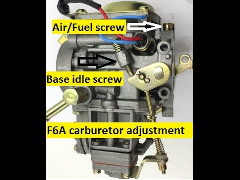 Suzuki Multicab F6a Carburetor Idle Adjustment Youtube