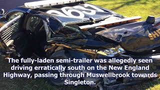 Man allegedly steals truck and crashes in fireball on singleton's main street