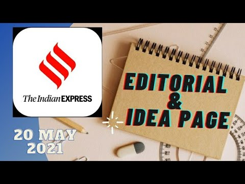 20th May 2021 | Gargi Classes Indian Express Editorial Analysis/Discussion With Mapping