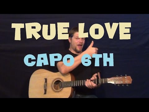 True Love (Coldplay) Easy Guitar Lesson How To Play Tutorial