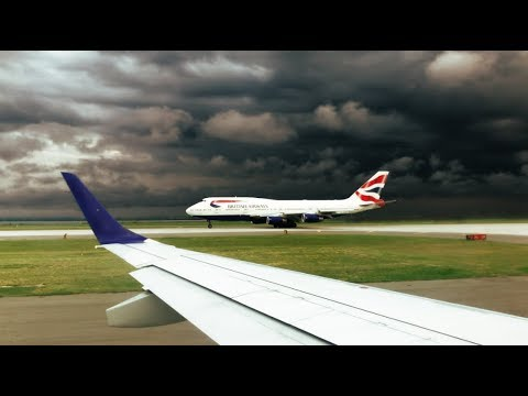 Stunning Takeoff Before Intense Thunderstorm at JFK - JetBlue ERJ-190 Takeoff