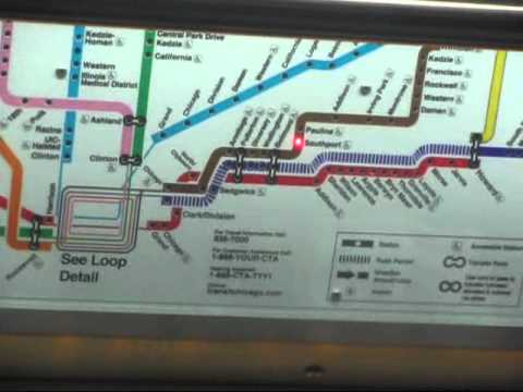 Electronic System Map On Cta 5000 Series Train On Brown