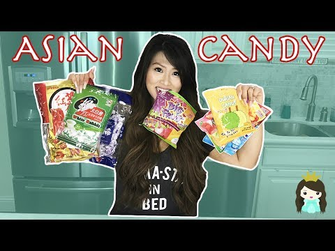 Asian Candy Challenge! Tasting Weird Asian Snacks | Super Gross Taste Test Life of Princess T