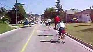 Cruising on vintage bicycle