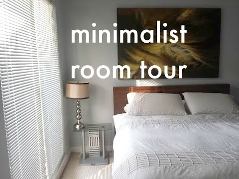 Minimalist room tour my bedroom youtube for Minimalist house tour