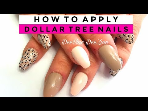 REQUESTED | HOW TO PUT ON DOLLAR TREE NAILS