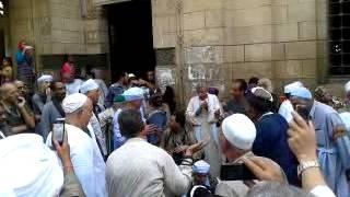 Kidung Shufi depan masjid Sayyidah Zainab, Kairo.