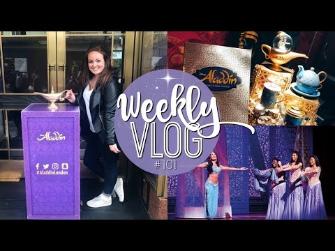 WEEKLY VLOG #101 | ALADDIN THE MUSICAL & MAC MASTERCLASS! ♡ | Brogan Tate