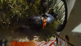 Horse Throws Rider After He Attempts to go up a Dirtbike Trail