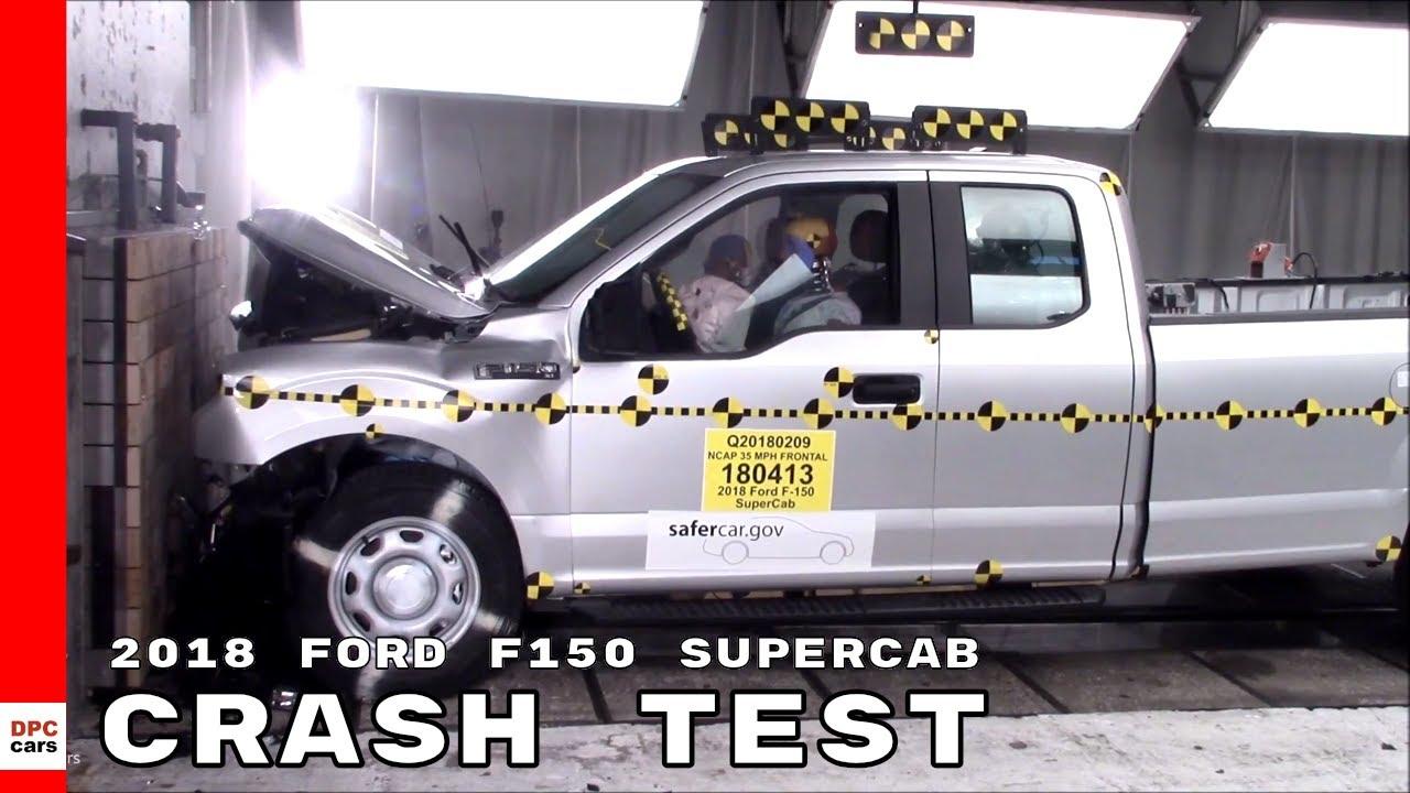 ford  supercab truck crash test youtube
