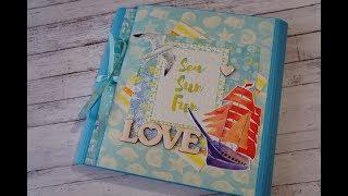 Скрапбукинг. Летняя фотопапка. Свадебный морской альбом. Romantic summer folio. Wedding scrapbook