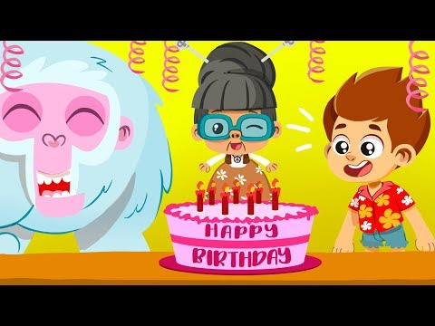 Learn How To Share At Grandma's Birthday! | Superzoo Educational