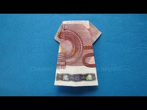 geldschein falten kleid einfache origami kleidung falten mit geld zum geldgeschenke basteln. Black Bedroom Furniture Sets. Home Design Ideas